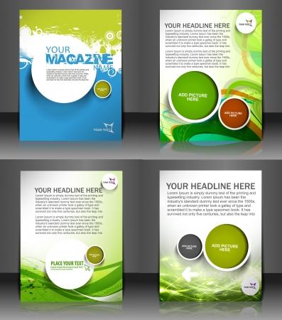 flyer template: Set of presentation of flyer design content background.  Illustration
