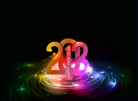 New year 2013 background for new year poster design.  Vector