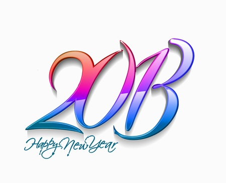 new year 2013 design element. Stock Vector - 16107974
