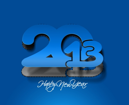 new year 2013 design  element. Stock Vector - 16107854
