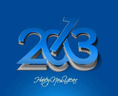new years resolution: new year 2013 design element.
