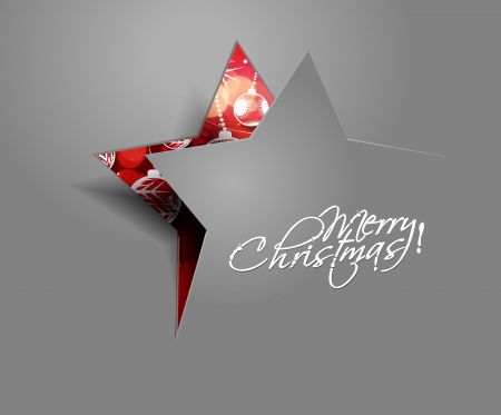 Modern christmas star background, illustration