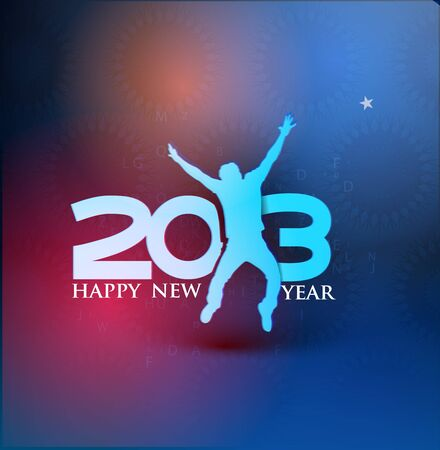 sylwester: nowy rok 2013 element projektu. Ilustracja