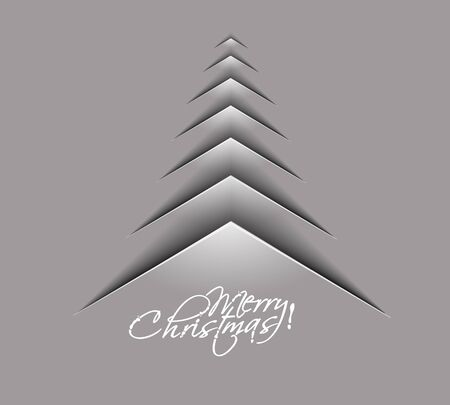 pine tree silhouette: merry christmas tree design, illustration.  Illustration