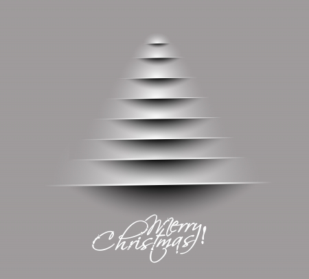 winter wonderland: merry christmas tree design,  illustration.