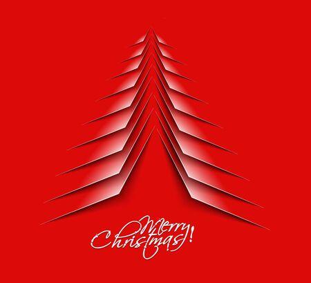 merry christmas tree design, illustration. Stock Vector - 16108169