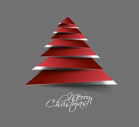 merry christmas tree design, illustration.  Vector