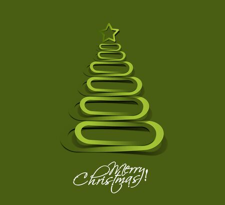 merry christmas tree design, illustration. Stock Vector - 16108123