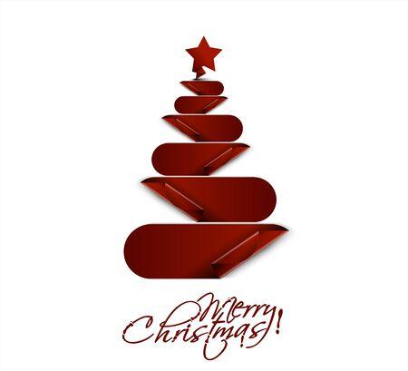 merry christmas tree design, illustration.  Illustration