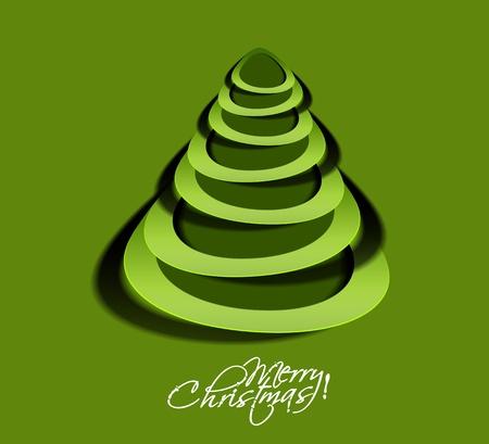 merry christmas tree design, illustration. Stock Vector - 16108201
