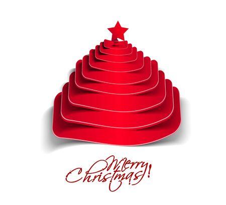 merry christmas tree design, illustration. Stock Vector - 16107972