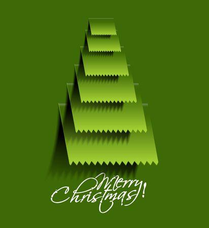 merry christmas tree design, illustration. Stock Vector - 16107958