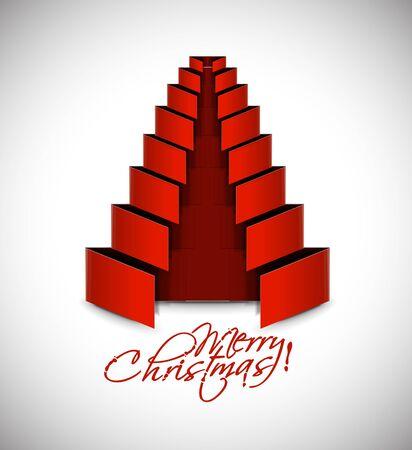 merry christmas tree design, illustration. Stock Vector - 16107961