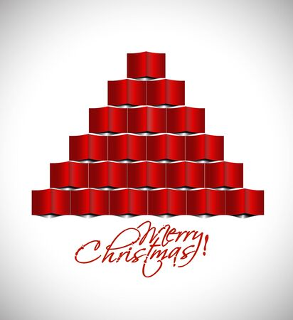 merry christmas tree design, illustration. Stock Vector - 16108074