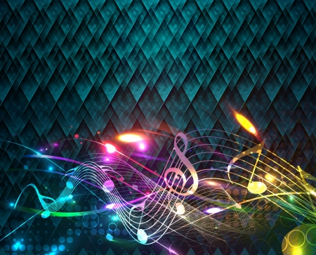 abstract music notes design for music background use, vector illustration  Vector