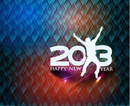 Happy new year 2013 celebration background for your posters design. Stock Vector - 16592392