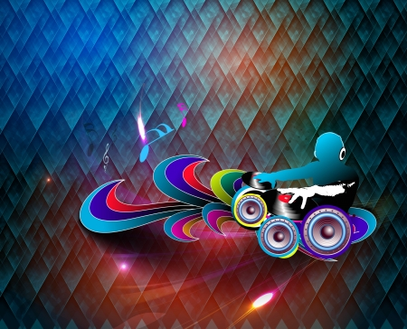 music dj: Abstract music  background for music event design.