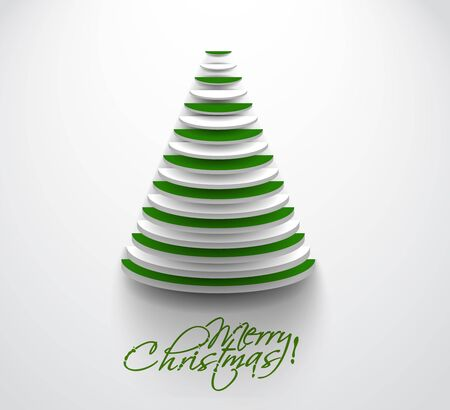 congratulations word: Modern christmas tree background Illustration