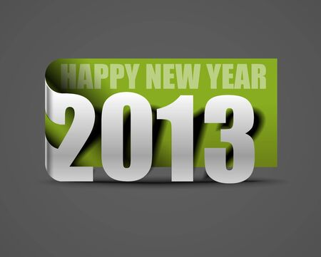 Happy new year 2013 label design. Stock Vector - 16610768