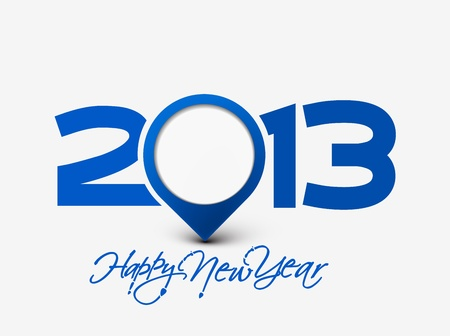 Happy new year 2013 celebration background for your posters design. Illustration