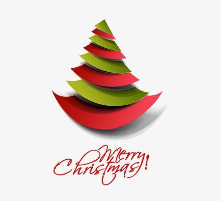 Modern christmas tree background Stock Vector - 16640829