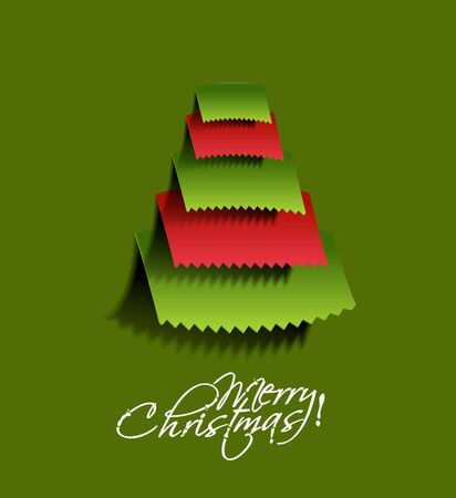 Modern christmas tree background Stock Vector - 16575023