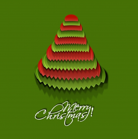 Modern christmas tree background Stock Vector - 16598152