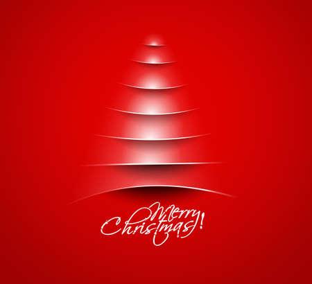Modern christmas tree background Stock Vector - 16575009