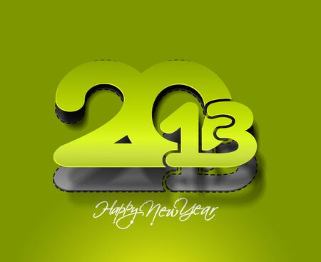 New year 2013 background for paper folding with letter design.  Stock Vector - 16574993