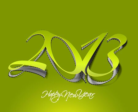 New year 2013 background for paper folding with letter design.  Stock Vector - 16575011