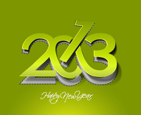 New year 2013 background for paper folding with letter design.  Stock Vector - 16574996