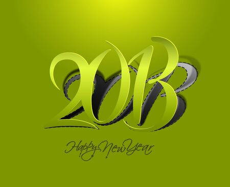 New year 2013 background for paper folding with letter design.  Vector