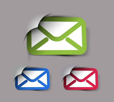 mail marketing: Icons Set for Web Applications, email icons design.