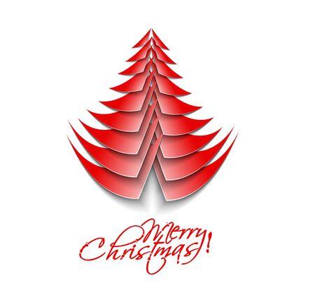 Modern christmas tree background,  Stock Vector - 16575030
