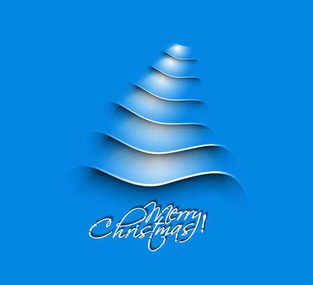 Modern christmas tree background Stock Vector - 16592475