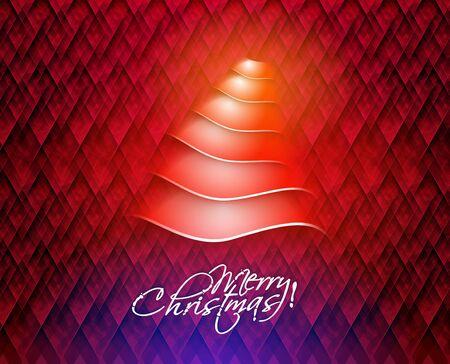 Modern christmas tree background Stock Vector - 16592419