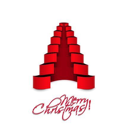 Modern christmas tree background, eps10 vector illustration Stock Vector - 16577434
