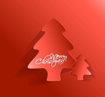 Modern christmas tree background Stock Vector - 16598122