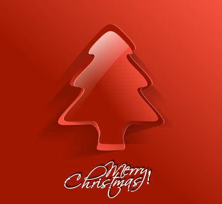 Modern christmas tree background Stock Vector - 16592503