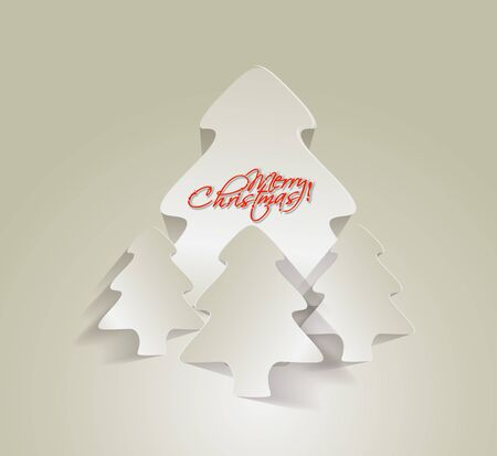 Modern christmas tree background Stock Vector - 16592399