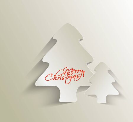 Modern christmas tree background, vector illustration  Stock Vector - 16577433
