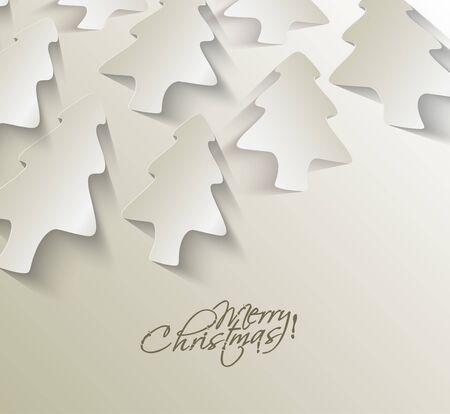 Modern christmas tree background, vector illustration  Stock Vector - 16592425