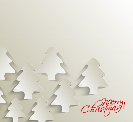Modern christmas tree background, vector illustration  Vector