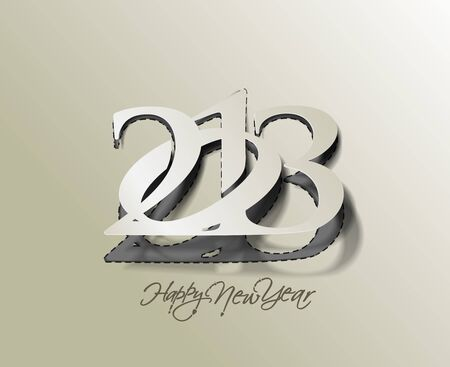 New year 2013 background for paper folding with letter design. Stock Vector - 16577432