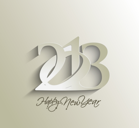 new year parties: Happy new year 2013 celebration background for your posters design. Illustration