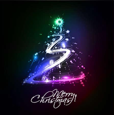 Modern christmas tree background Stock Vector - 16592470
