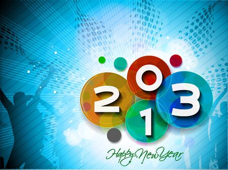 Happy new year 2013 celebration illustration design. Stock Vector - 16819098