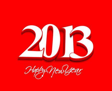 Happy new year 2013 celebration design. Stock Vector - 16818656