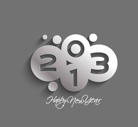 Happy new year 2013 celebration design. Vector
