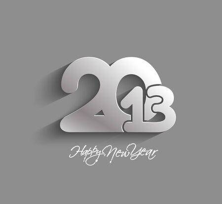 Happy new year 2013 celebration design. Vector